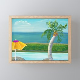 Pool relaxation in Nevis Framed Mini Art Print