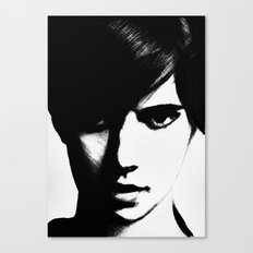Slender Face Canvas Print