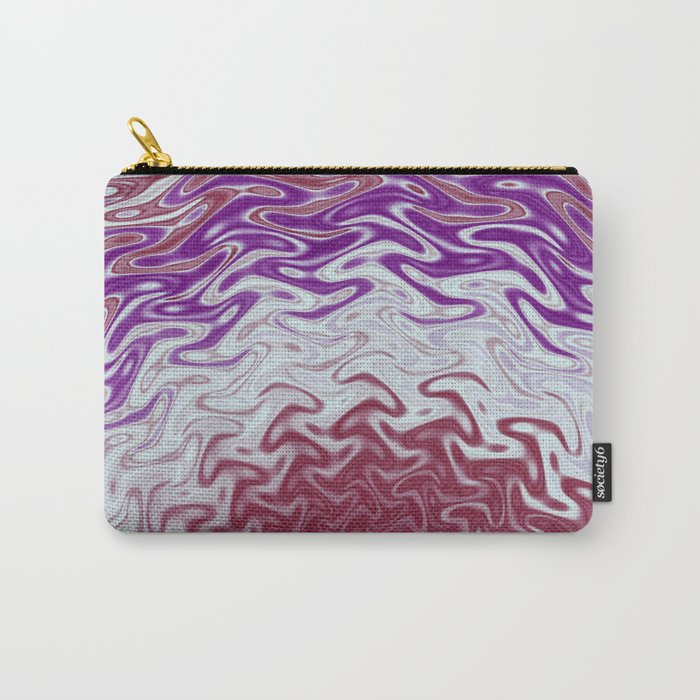 Fractal Rise in Pinks and Purples Carry-All Pouch