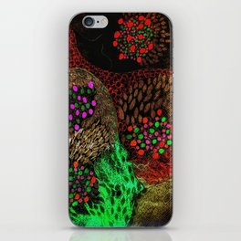 Colour points iPhone Skin