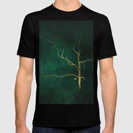 Kintsugi Emerald #green #gold #kintsugi #japan #marble #watercolor #abstract T-shirt
