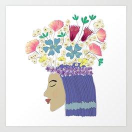 Guldasta mujer Art Print