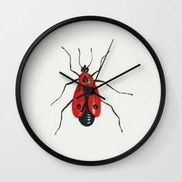 Firebug from Insects and Fruits (1660-1665) by Jan van Kessel Wall Clock