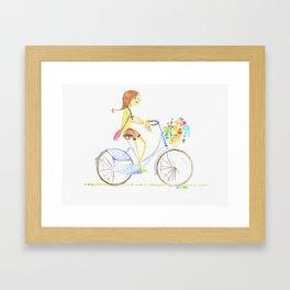 let's take a bike Framed Art Print