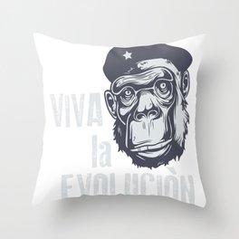 Evolution monkey - Che Throw Pillow