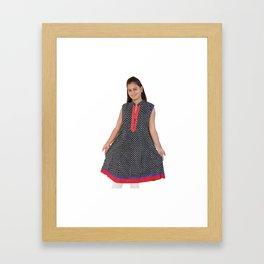 Black Cotton Kurtis for Women's & Girls Framed Art Print