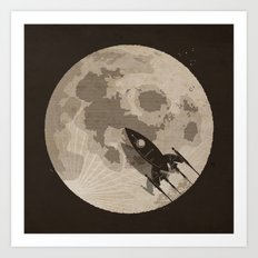 Around the Moon Art Print