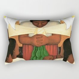 Calla Lily Flower Festival of Santa Anita by Diego Rivera Rectangular Pillow