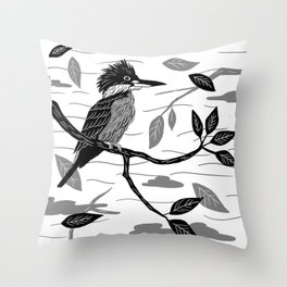 Martín Pescador Throw Pillow