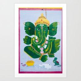 Pan Leaf Ganesh Art Print
