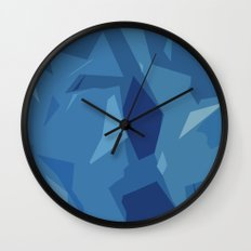 Blue Abstract Map Wall Clock