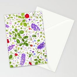 Leaves and flowers (14) Stationery Cards