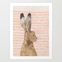 hare Art Prints featuring Hare by stephanie cole DESIGN