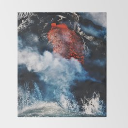 Fire and Fury Throw Blanket