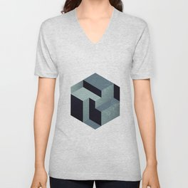 Abstract Mind Space Unisex V-Neck