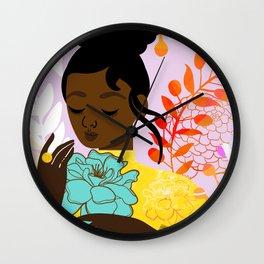 Marigold in October Wall Clock