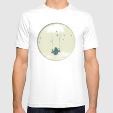 Lucy in the sky White MEDIUM Mens Fitted Tee