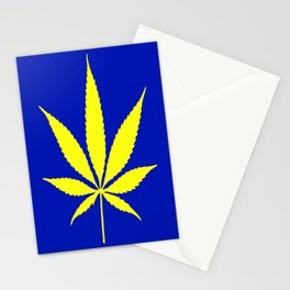 Weed Hash Bash Blue Stationery Cards