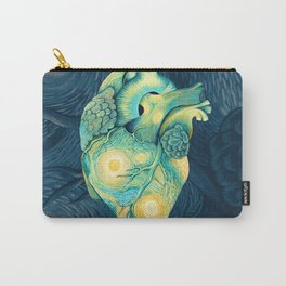 Anatomical Human Heart - Starry Night Inspired Carry-All Pouch