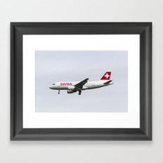 Swiss Airlines Airbus A319 Framed Art Print