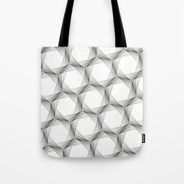 crazy hexagons Tote Bag