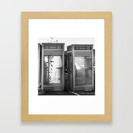 Phone booths Framed Art Print