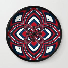 Spiral Rose Pattern B 1/4 Wall Clock