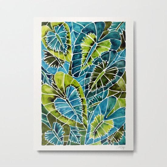 Schismatoglottis Calyptrata – Teal Palette Metal Print