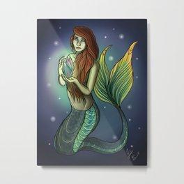 Mermaid's Crystal Metal Print