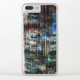 Colorful Buildings At Night Clear iPhone Case