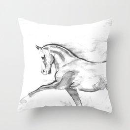 Totilas black & white Throw Pillow