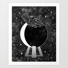 Waning Crescent Art Print