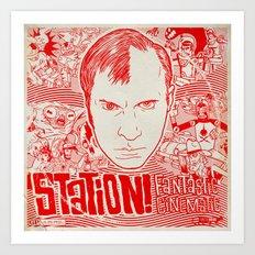 Station! Fantastic Cinematic Album Cover Art Print