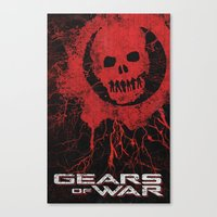 gears of war Canvas Prints featuring Gears Of War by Bill Pyle