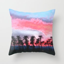 Coachella Sunset Throw Pillow