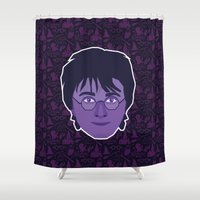 harry Shower Curtains featuring Harry by Kuki