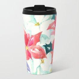 Poinsettia Cheer Travel Mug