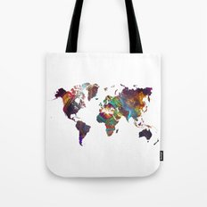 World Map fractal 2 Tote Bag
