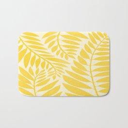Golden Yellow Leaves Bath Mat
