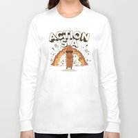 sia Long Sleeve T-shirts featuring Action Sia by FreedDraws