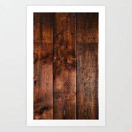 Natural Wood Boards Art Print