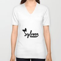sylveon V-neck T-shirts featuring Sylveon by Papa-Paparazzi