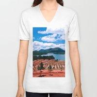 vietnam V-neck T-shirts featuring Lake - Central Highland - Vietnam by CAPTAINSILVA