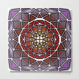 Stained Glass Mandala Metal Print