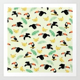 Toucan tropical pattern Art Print