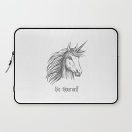 Unicorn Motivational Quotes Be yourself Be Unique  Laptop Sleeve