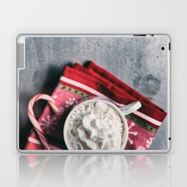 Christmas Cocoa With Candy Cane Laptop & iPad Skin