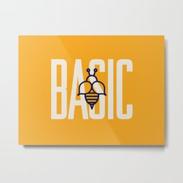Basic Bee Metal Print