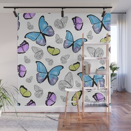 Butterfly-Waiting For Spring Wall Mural