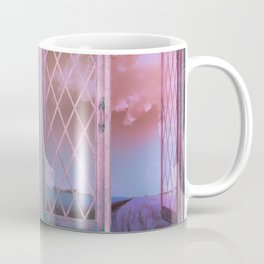 Lavender Fields in Window Shabby Chic original art Coffee Mug
